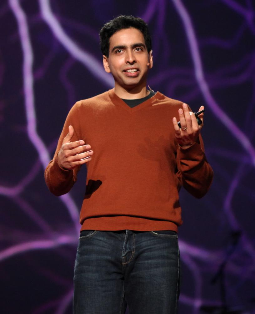 Salman Khan, the founder of the non-profit Khan Academy, presenting at TED2011.