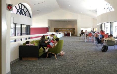 Silence Fills dTHS Study Hall Lobby as Students Dive into Their Work