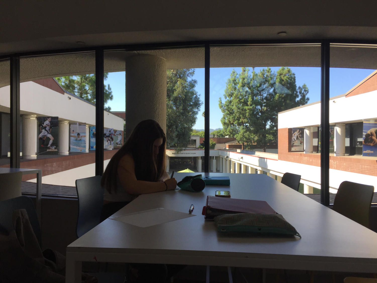Students are already studying hard on their first days back to school.