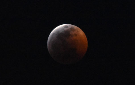 Plane-spotting photographer Dylan P ('20) captured this image during a rare lunar eclipse Jan. 20.