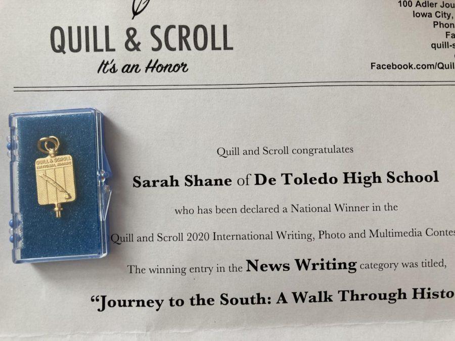Prowler Editor Wins National News Writing Award