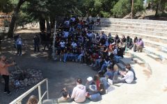 The class of '22 gathers at Brandeis-Bardin Campus in Simi Valley.